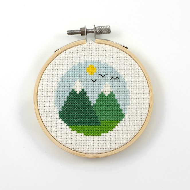 Mountain cross stitch pdf pattern
