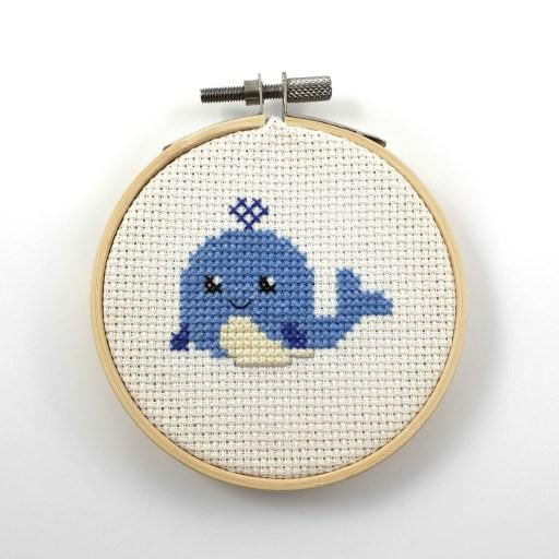 Whale cross stitch pdf pattern