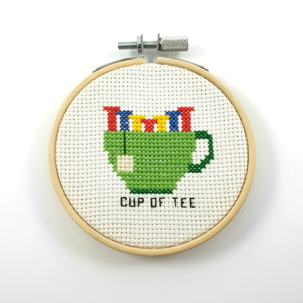 Cup of tee cross stitch pdf pattern