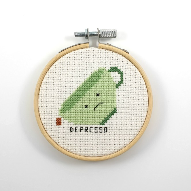 Depresso cross stitch pdf pattern