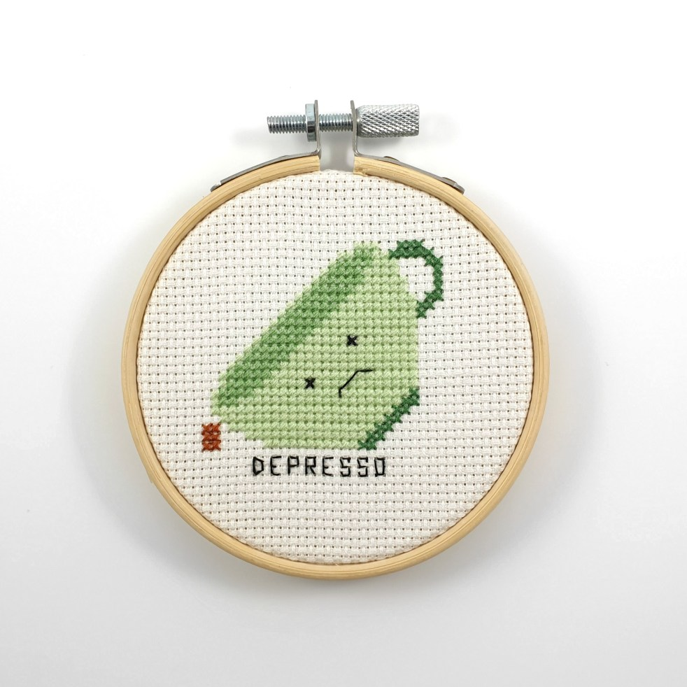 Depresso cross stitch pdf pattern