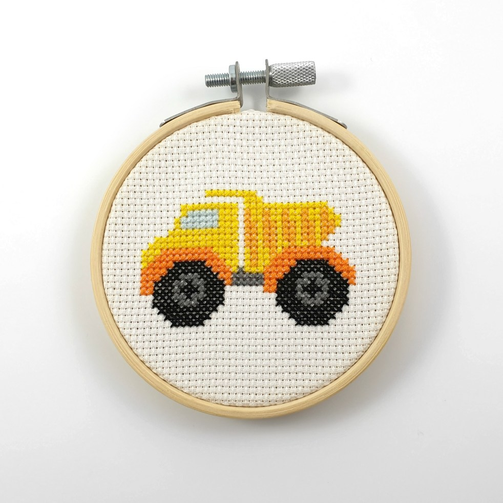 Dump truck cross stitch pdf pattern