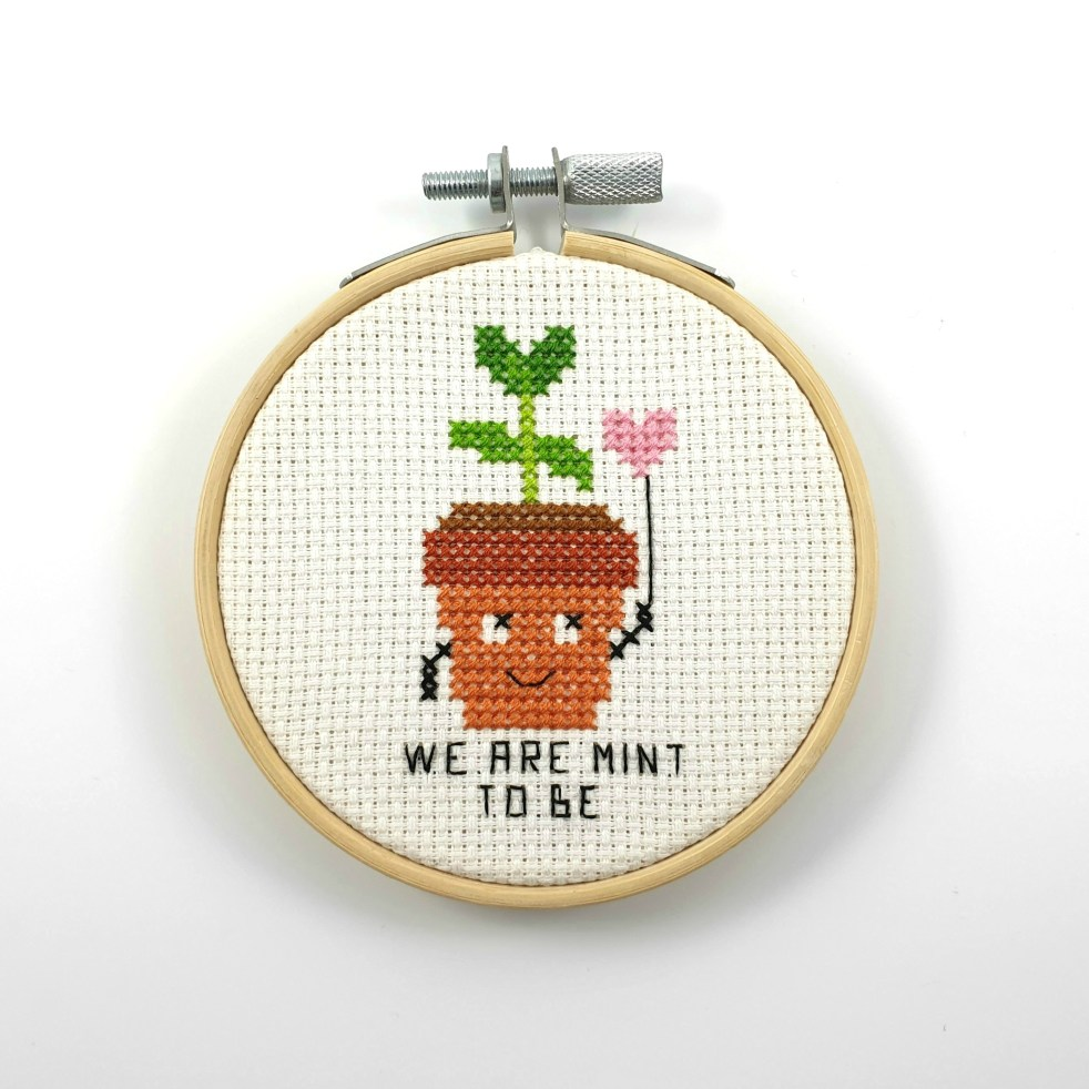 We are mint to be cross stitch pdf pattern