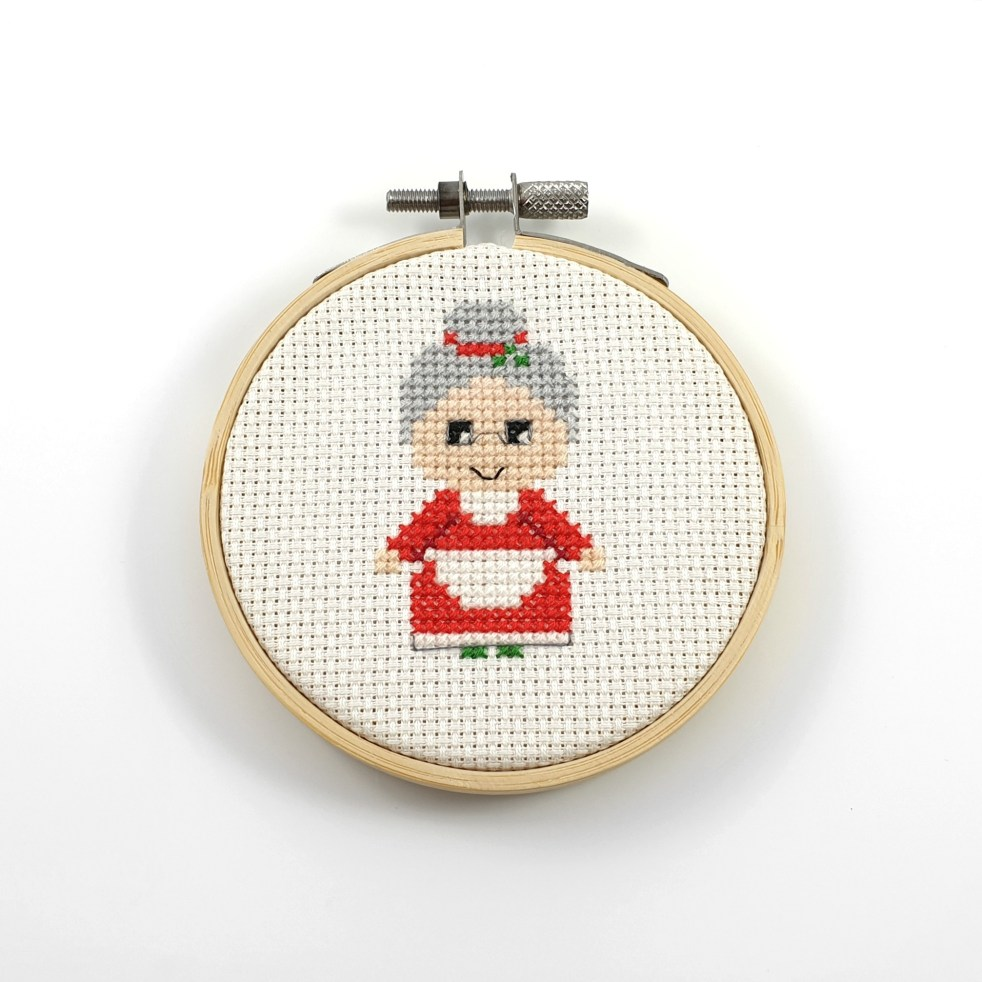 Mrs. Claus cross stitch pdf pattern