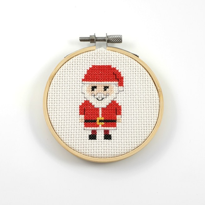 Santa cross stitch pdf pattern