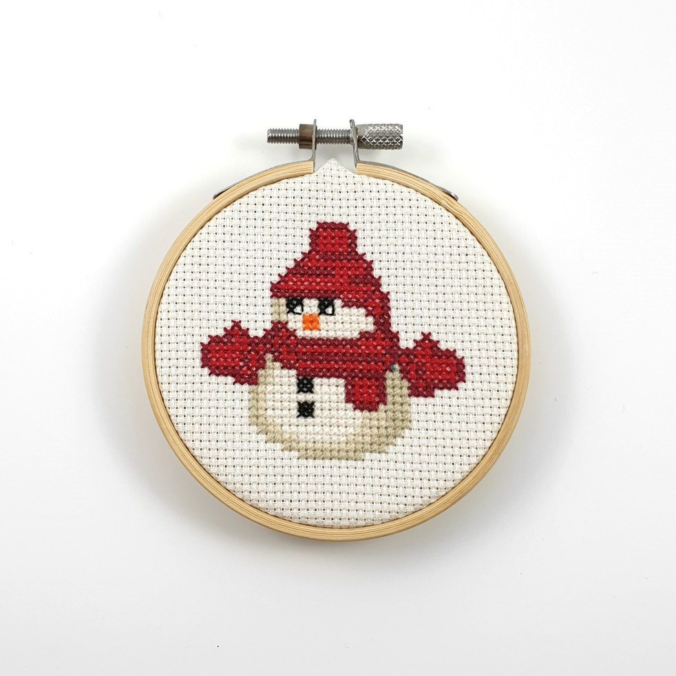 Snowman cross stitch pdf pattern