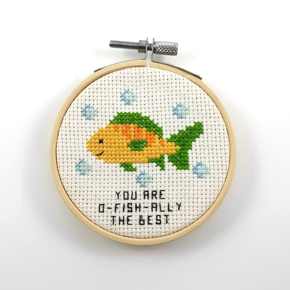 you are the o-fish-ally the best cross stitch pdf pattern