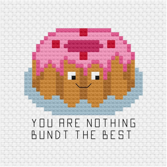 You are nothing bundt the best cross stitch pdf pattern - Ringcat