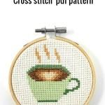 Coffee cross stitch pdf pattern
