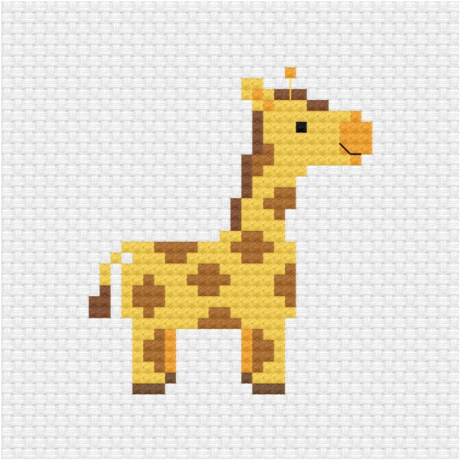 Giraffe cross stitch pdf pattern