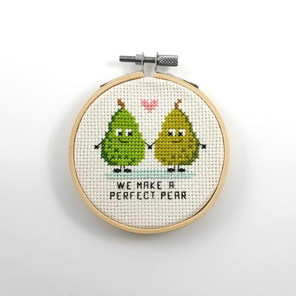 We make a perfect pear cross stitch pdf pattern