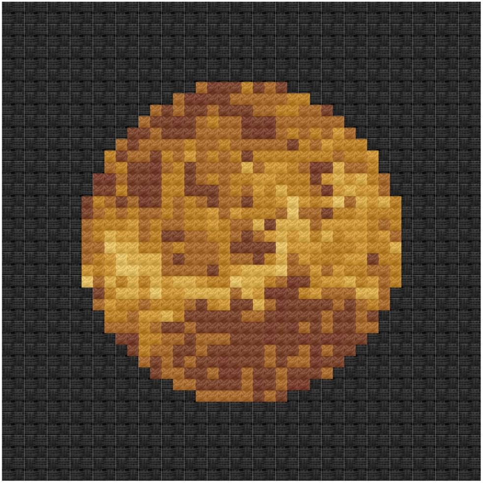 Venus cross stitch pdf pattern