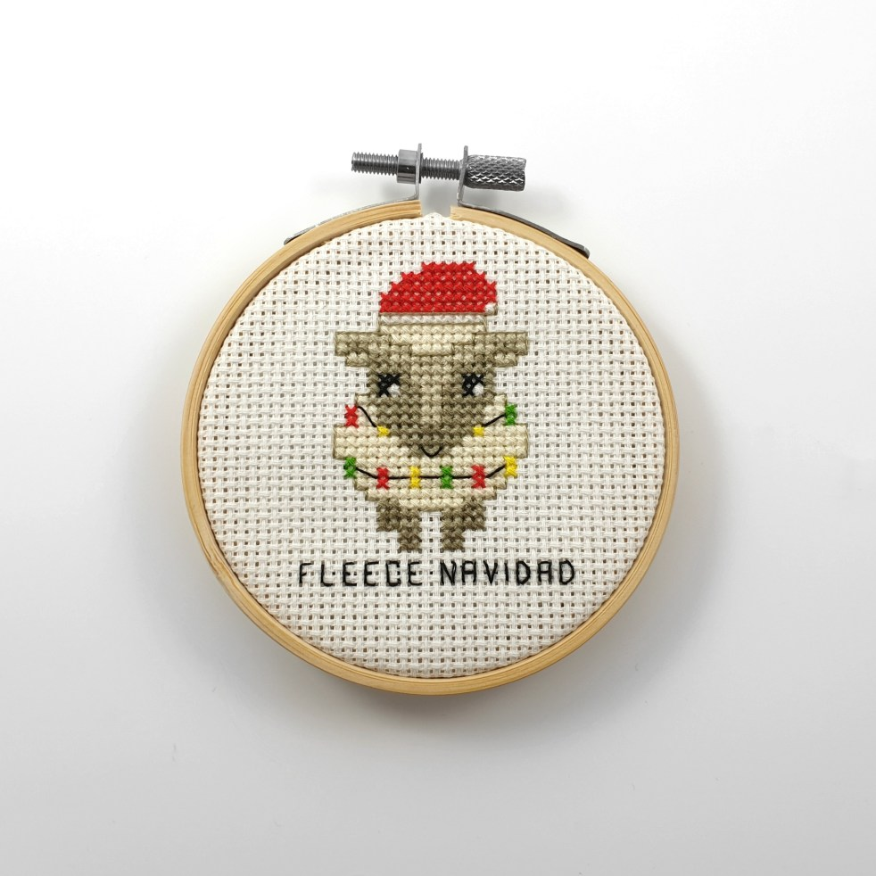 Fleece navidad cross stitch pdf pattern