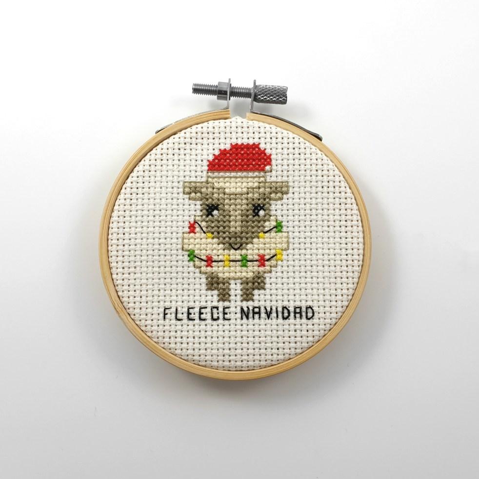 Fleece navidad cross stitch pdf pattern