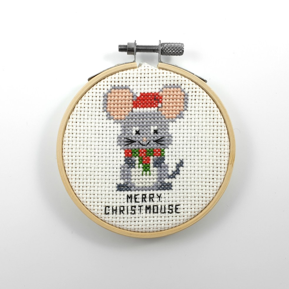 Merry Christmouse cross stitch pdf pattern