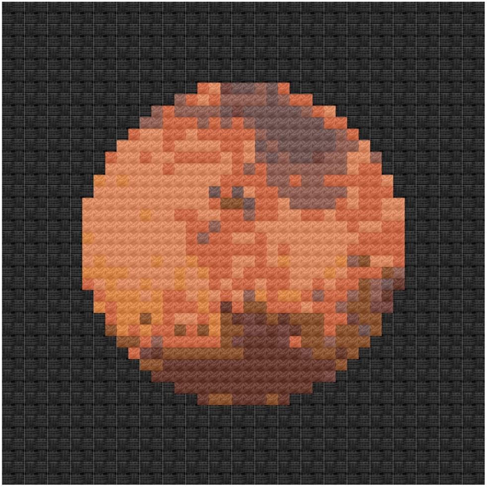 Mars cross stitch pdf pattern