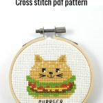 Purrger cross stitch pdf pattern