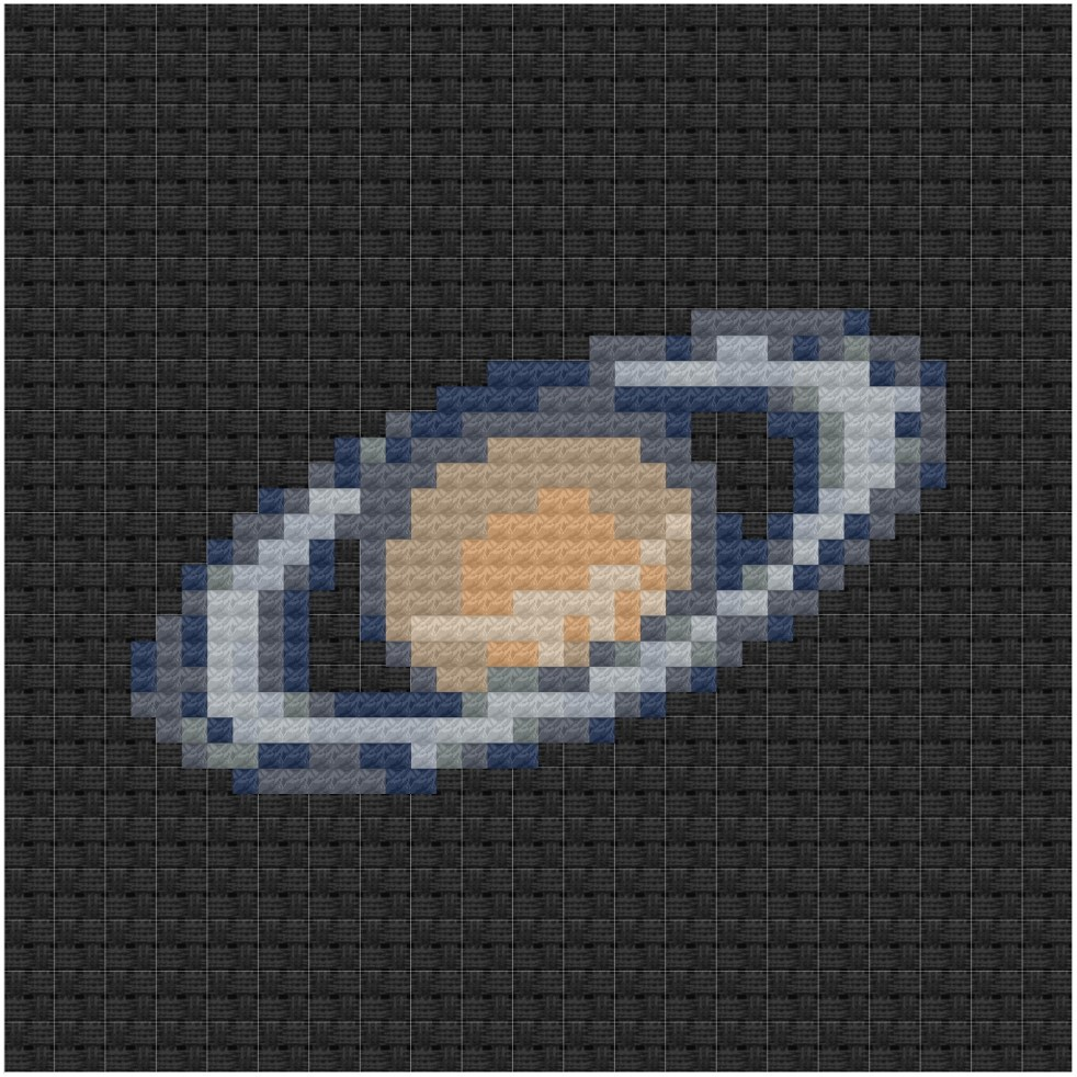 Saturn cross stitch pdf pattern