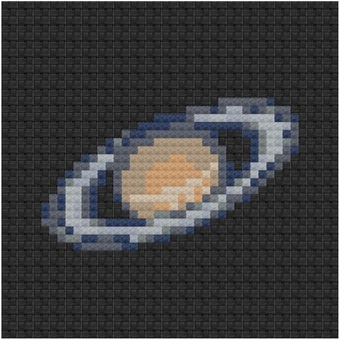 Saturn cross stitch pdf pattern