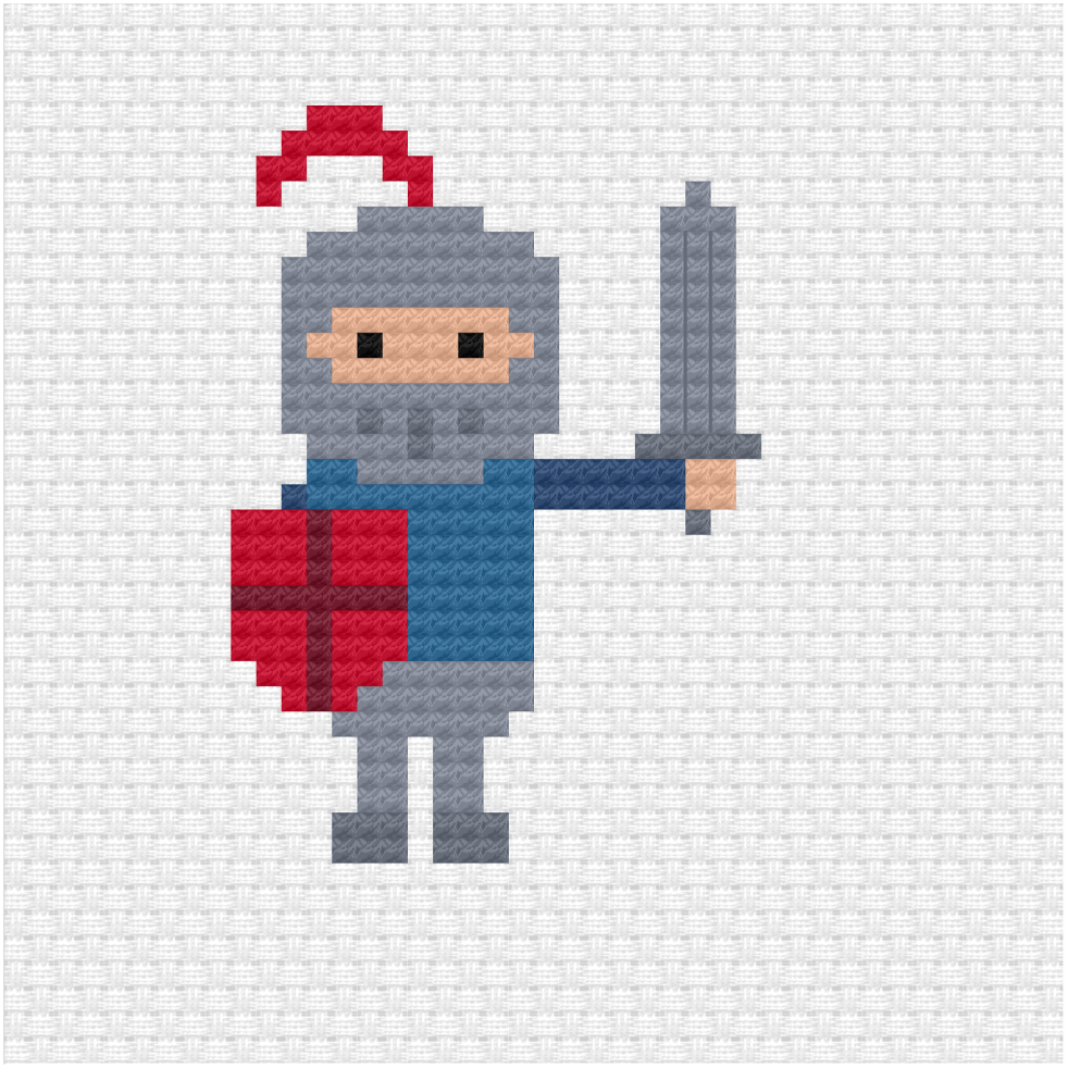Knight cross stitch pdf pattern