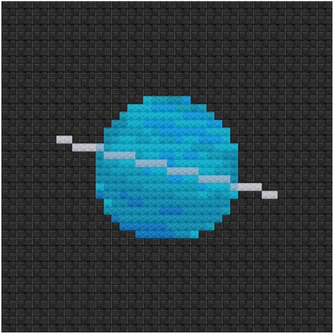 Uranus cross stitch pdf pattern