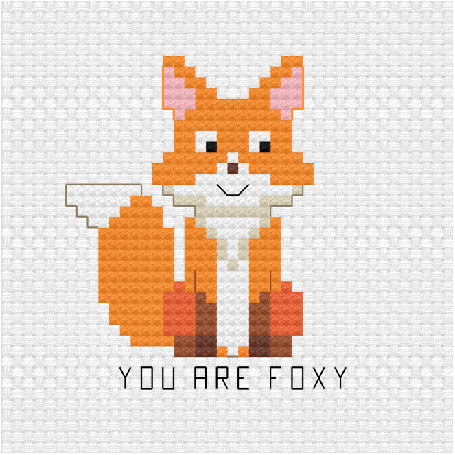 You are foxy cross stitch pdf pattern