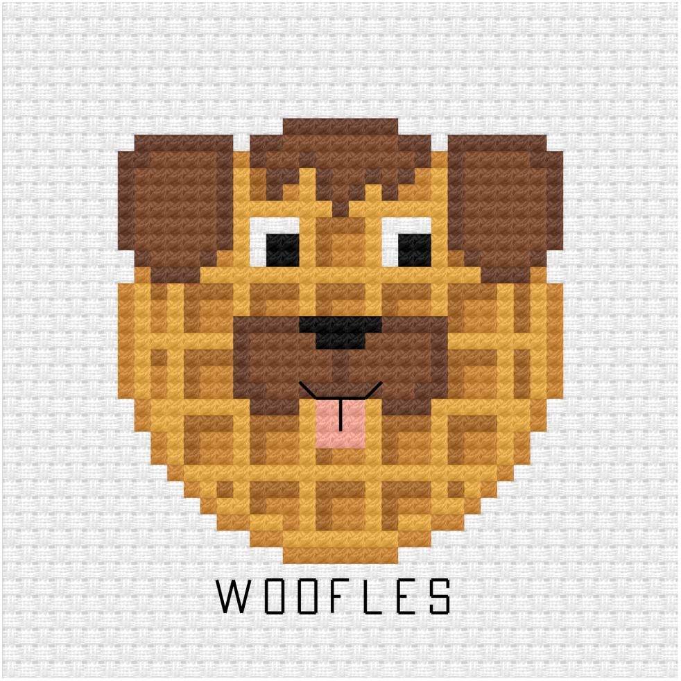 Woofles cross stitch pdf pattern