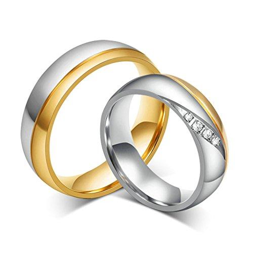 Verlobungsringe edelstahl paar  Modeschmuck