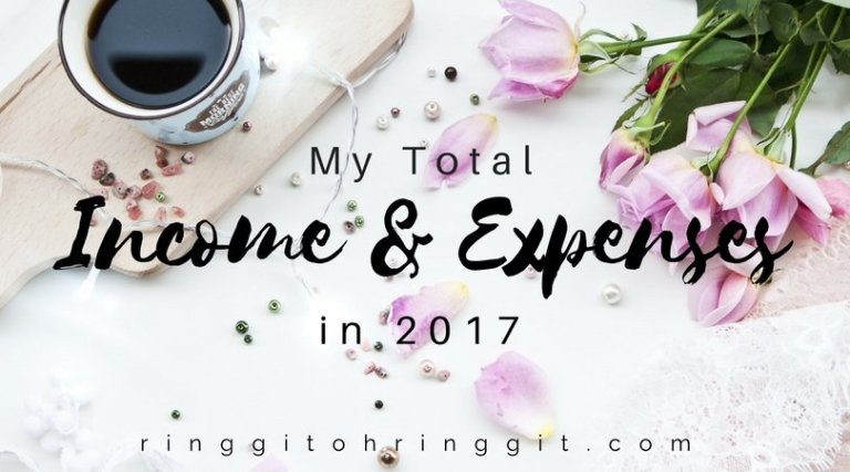 My Total Income and Expenses in 2017