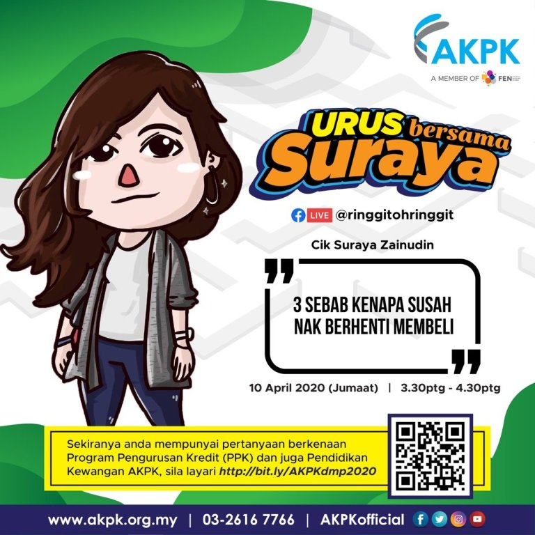 [FB LIVE SESSION 10 April] Urus Bersama Suraya (AKPK collab) @ 3pm (Video Uploaded)