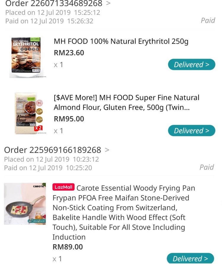 bought from lazada erythritol carote induction pan