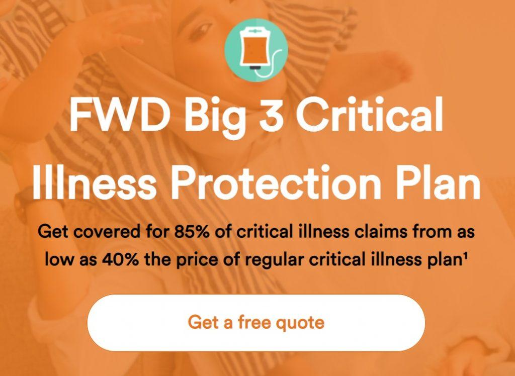 fwd takaful big 3 critical illness insurance