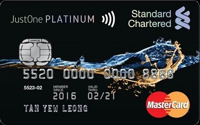 Standard Chartered JustOne Platinum MasterCard credit card