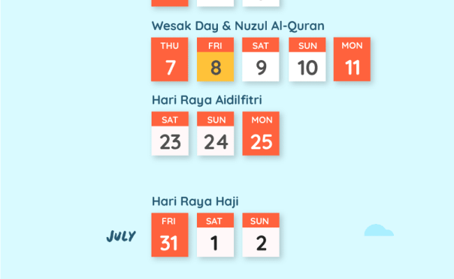 Public Holidays And Long Weekends Malaysia 2020