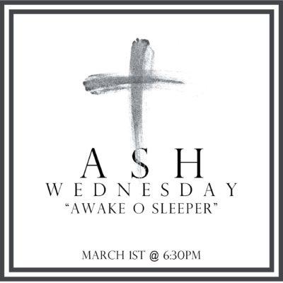 Ash Wednesday Worship