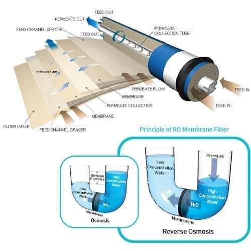 Reverse Osmosis 50 gpd Membrane TFC 1812