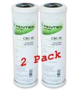 0.5 Micron Pentek CBC-10 x2 water filter