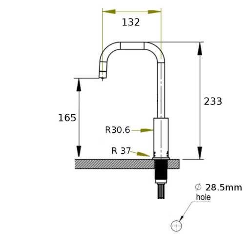 single-boiling-water-tap-measurements