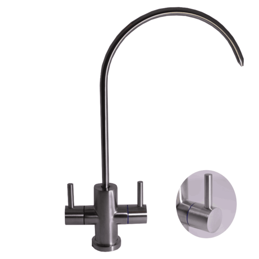 Twin-stainless-steel-tap
