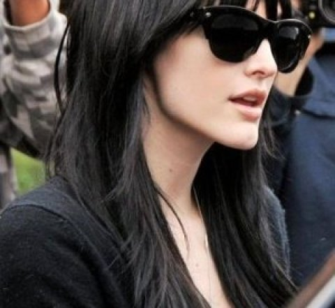 Pretty Hairstyles for Black Hair: Layered Haircut with Wispy Bangs