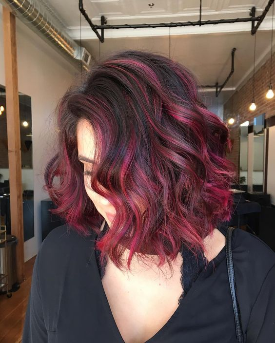 30 Blushing Burgundy Ombre Hair Ideas — Ravishing In Red Check more at http://hairstylezz.com/best-burgundy-ombre-hair-ideas/: