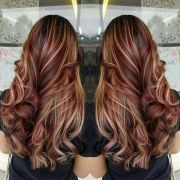 brilliant brown hair with red