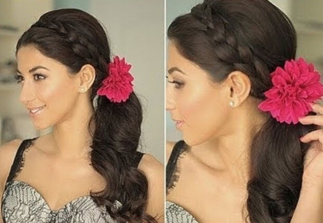Ponytail with side braids