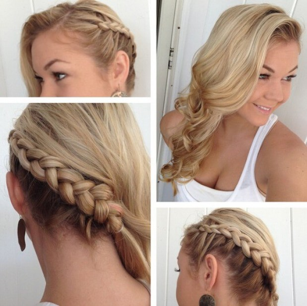 Side braid for curly hair