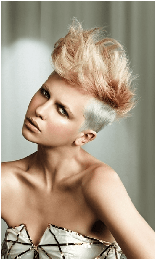 Blonde Metal Hairstyle For Women