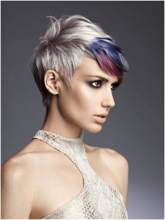 Colorful Pixie Hairstyle For Women