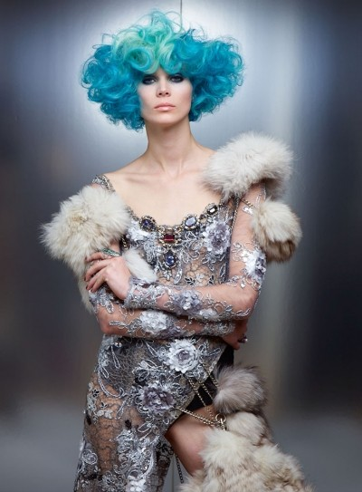 Hunger Games Blue Hairstyles