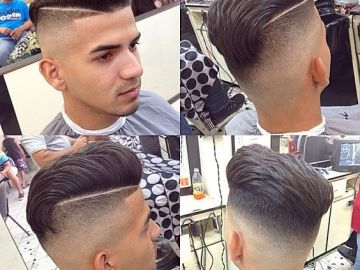 Side Undercut with Horizontal Lines