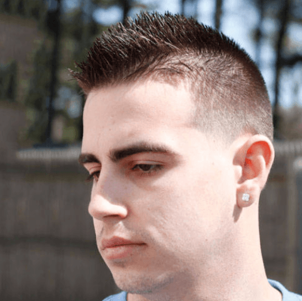 Low Fade Haircut For White Man