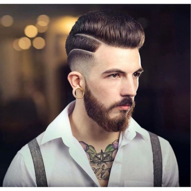 Low Fade and Slicked Back Hairstyle For Men